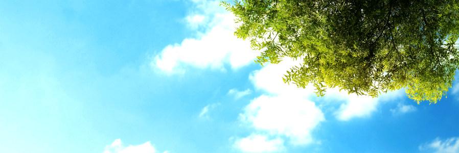 蓝色天空高清背景图片素材下载