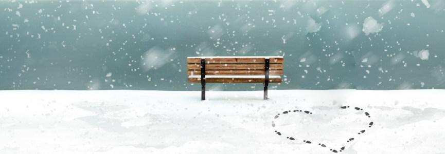 漫画雪景banner创意设计
