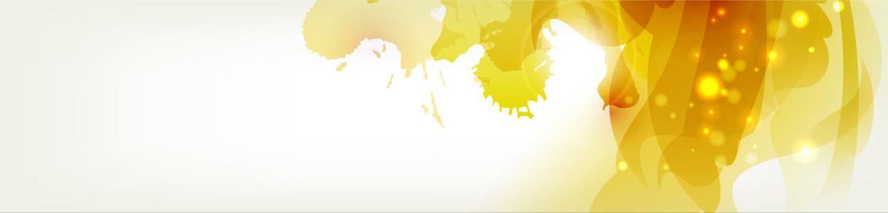 创意黄色喷绘横幅背景