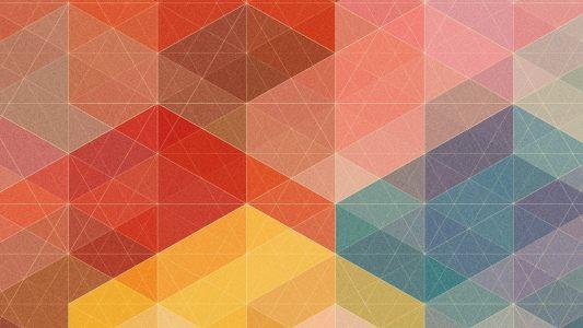 彩色几何线条背景