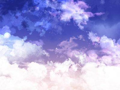 紫色天空背景