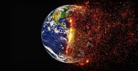 爆炸地球高清背景图片素材下载