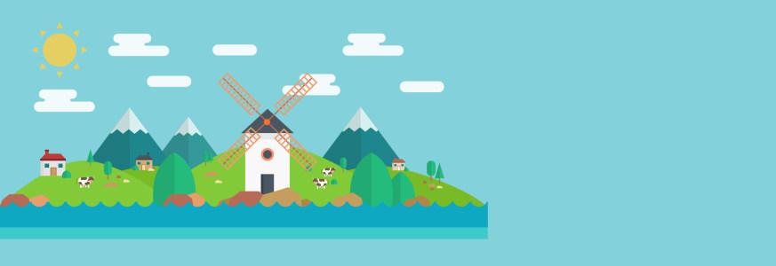 儿童建筑风景banner背景高清背景图片素材下载