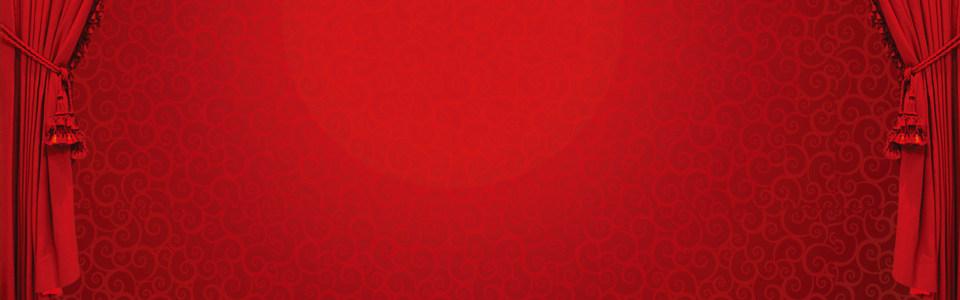 中国红喜庆海报背景