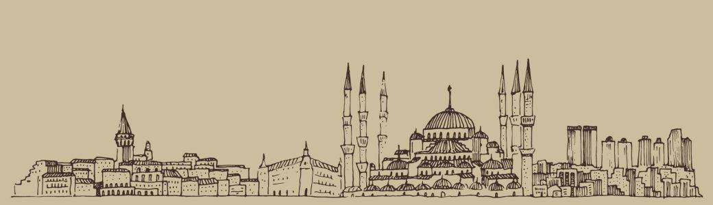 卡通手绘城市背景banner