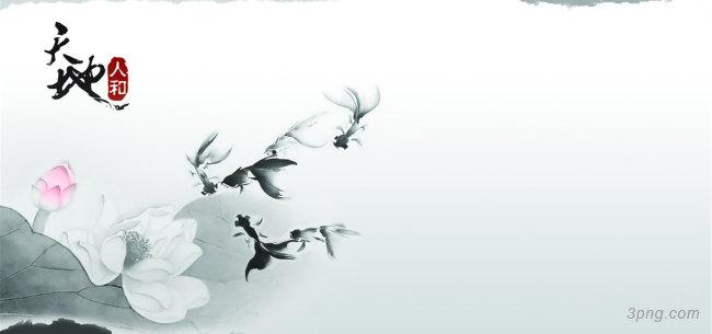 小清新素雅纯洁荷花中国风唯美高清背景图背景高清大图-荷花背景淡雅/清新/唯美