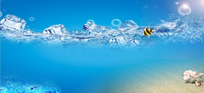 冰水背景图