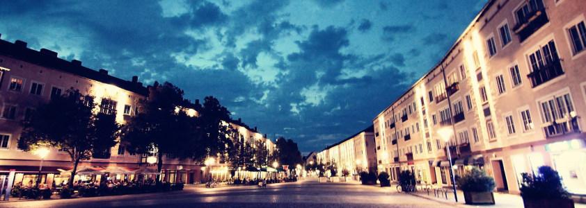 欧式夜晚街景banner