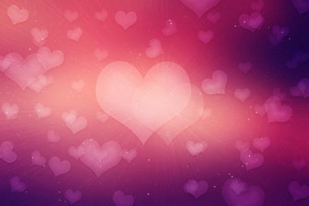 浪漫情人节爱心背景高清背景图片素材下载