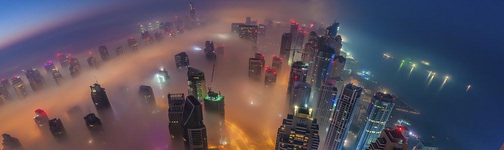 城市夜景摄影banner壁纸
