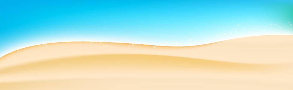 海滩插画背景