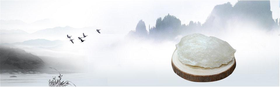 美食中国风清新背景banner