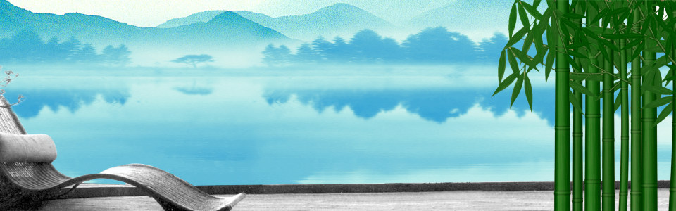 创意清爽蓝色中国风海报背景高清背景图片素材下载