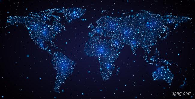 蓝色梦幻世界地图背景背景高清大图-世界地图背景底纹/肌理