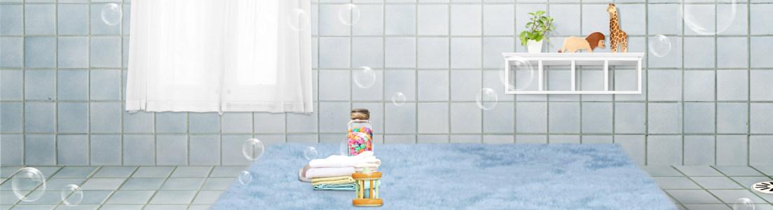 母婴产品banner背景设计