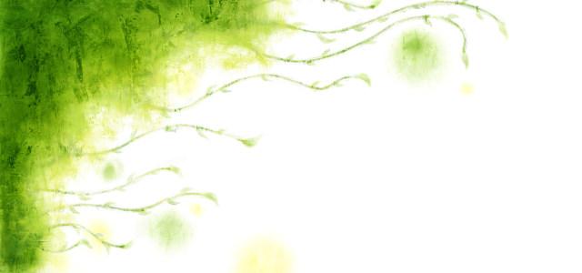 藤蔓植物装饰水彩图案