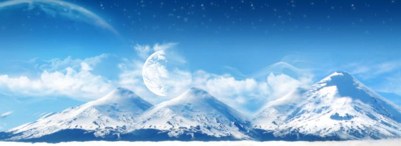 雪山背景高清背景图片素材下载