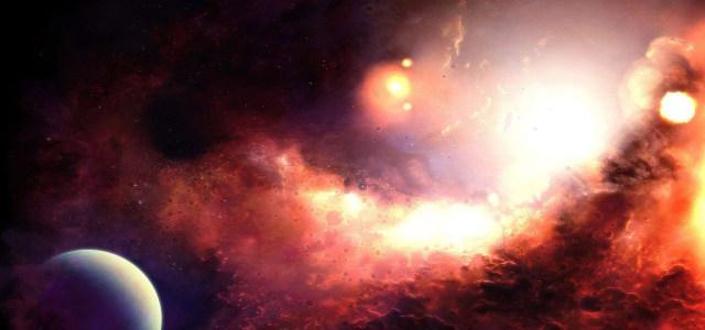 红色星空太空宇宙高清背景图片素材下载