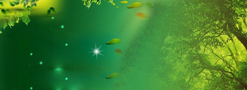 绿色清爽淘宝背景高清背景图片素材下载