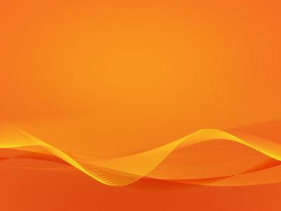 橙色抽象波浪线条背景