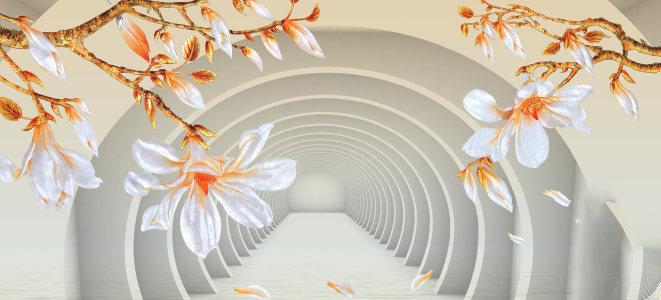 电视背景墙花卉背景banner