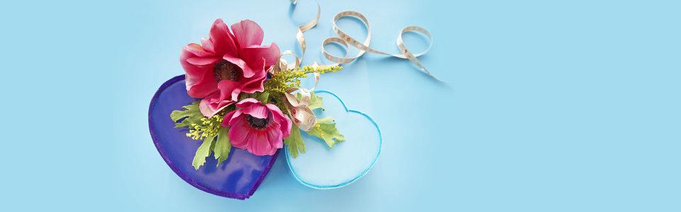 唯美亲下爱心花朵海报背景高清背景图片素材下载