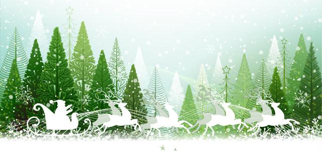 卡通圣诞节圣诞树高清背景图片素材下载