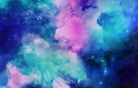 水彩宇宙星空背景