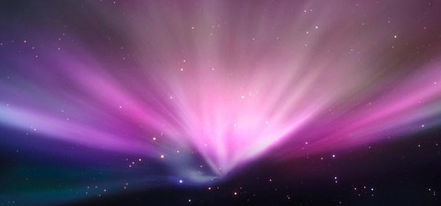紫色极光背景