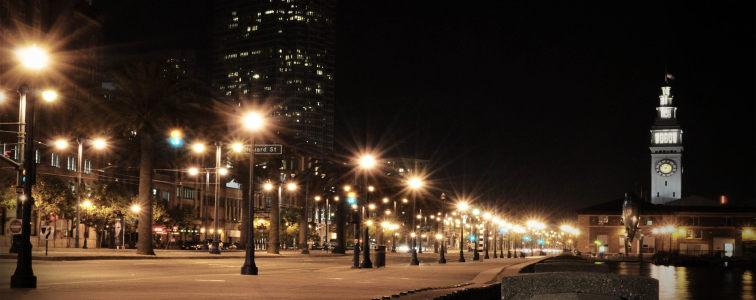 城市夜晚街景banner