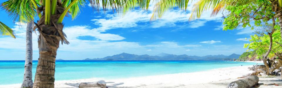 清爽马尔代夫美丽沙滩海报背景高清背景图片素材下载