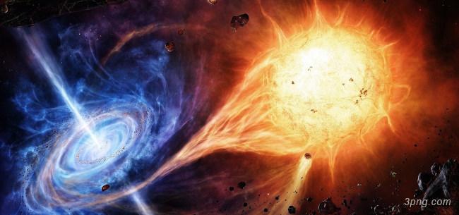 科幻宇宙碰撞背景高清大图-碰撞背景特效图片