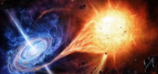 科幻宇宙碰撞高清背景图片素材下载