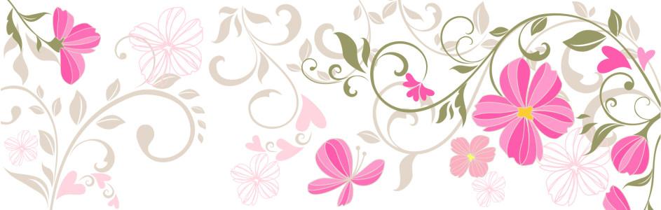 女装花卉banner背景