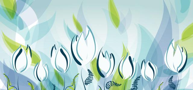 卡通手绘花卉背景