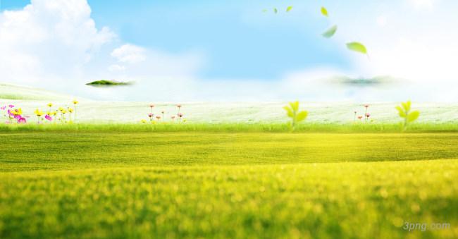 唯美天空草地背景背景高清大图-草地背景底纹/肌理