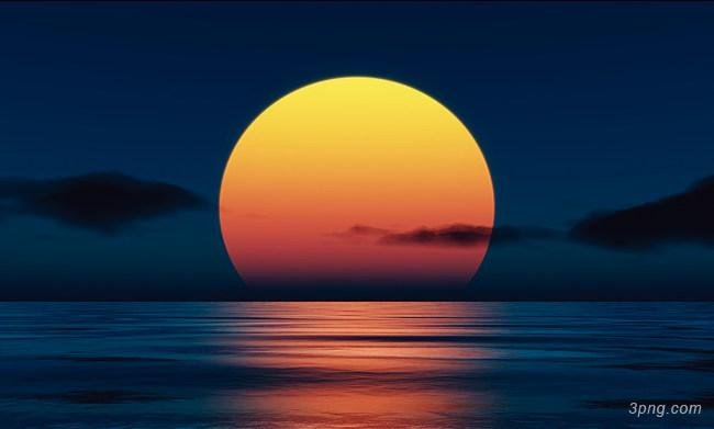 海上生明月背景背景高清大图-海上生明月背景自然/风光