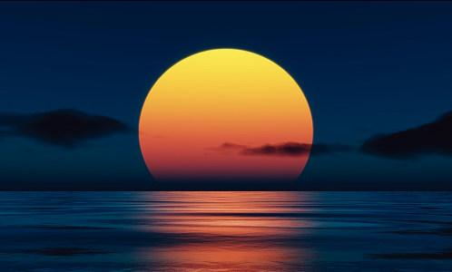 海上生明月背景高清背景图片素材下载