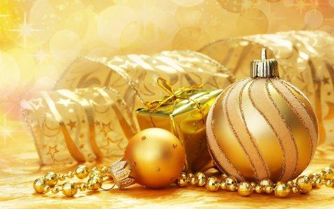 圣诞礼物与装饰品高清背景图片素材下载