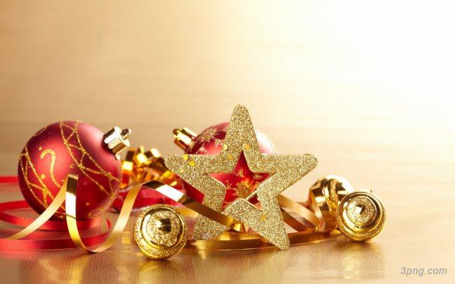 圣诞礼物与装饰品背景高清大图-装饰品背景节日/喜庆