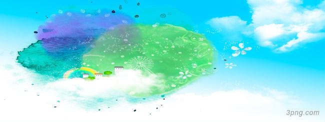 梦幻天空背景背景高清大图-背景背景底纹/肌理