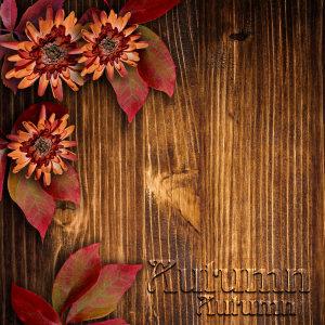 秋季木板木纹背景