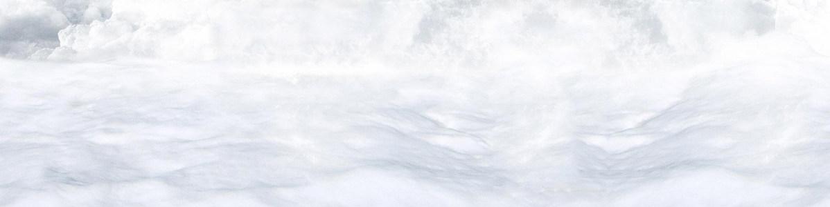 白色云海唯美背景banner
