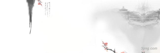 中国风水墨风景图海报背景背景高清大图-中国背景Banner海报