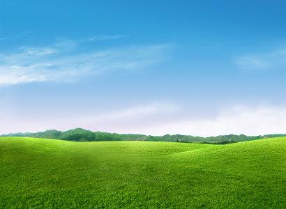 蓝天草地背景高清背景图片素材下载