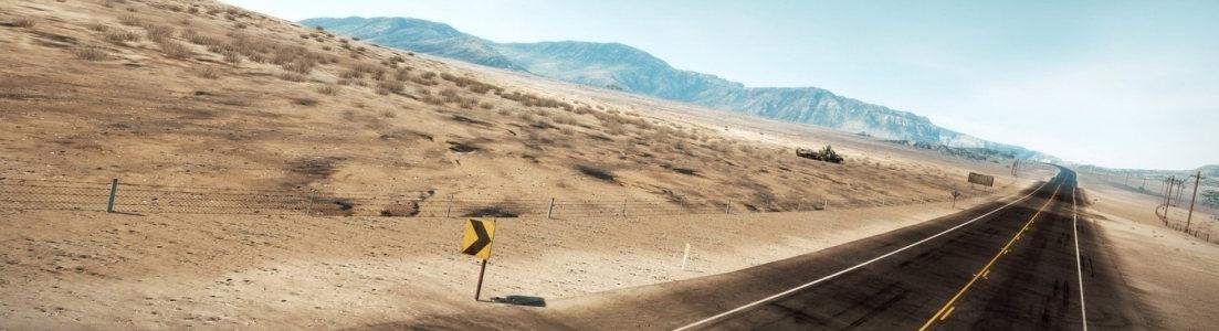 沙漠公路banner创意设计