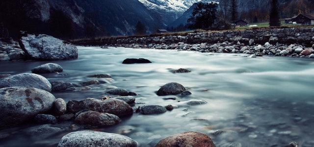 河流自然风光背景高清背景图片素材下载
