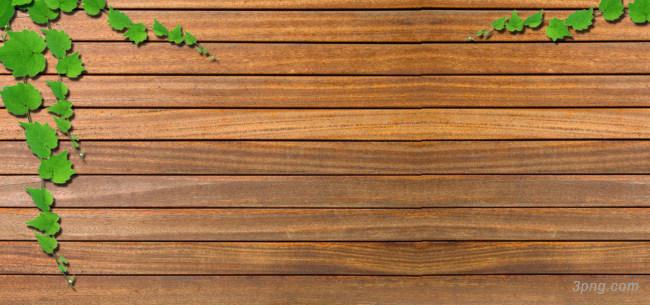 绿叶绿色藤蔓木板背景背景高清大图-绿叶背景木纹/纸张/复古