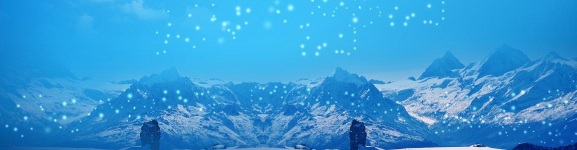 冰山背景banner
