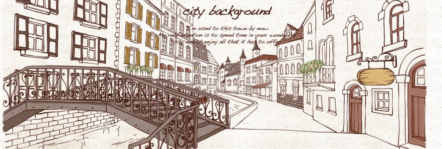 插画 城市背景